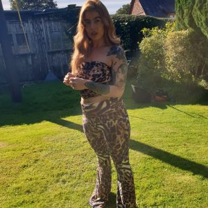 Mariella Leopard Print Trousers - by we are curves clothing