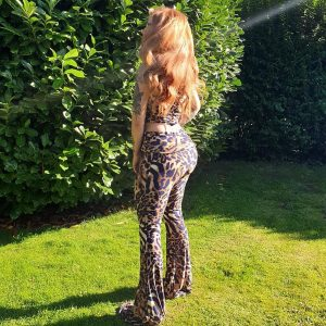Mariella Leopard Print Trousers (1) - by we are curves clothing