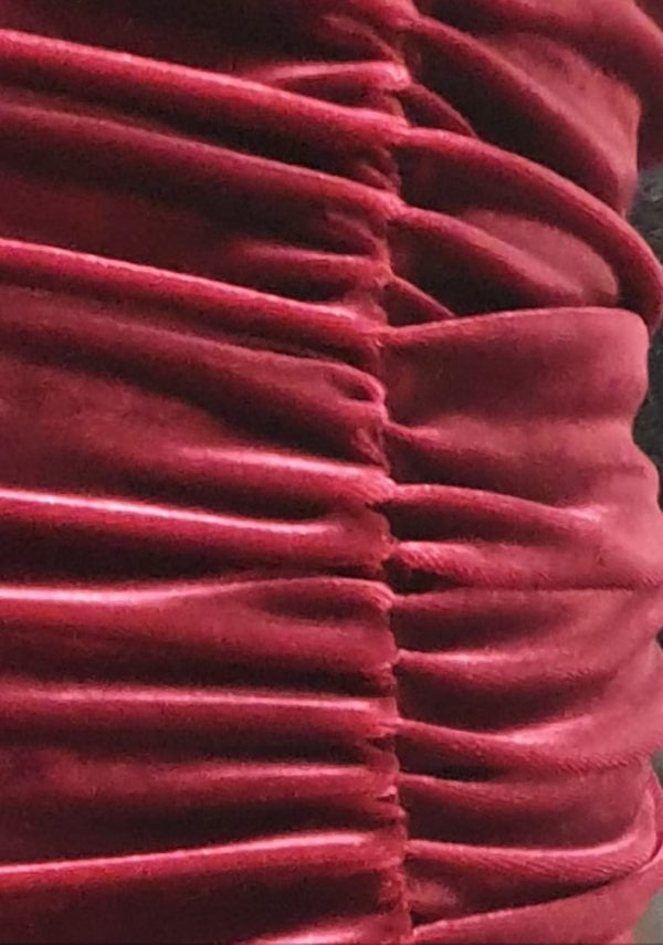 red chiffon skirt - by We Are Curves clothing