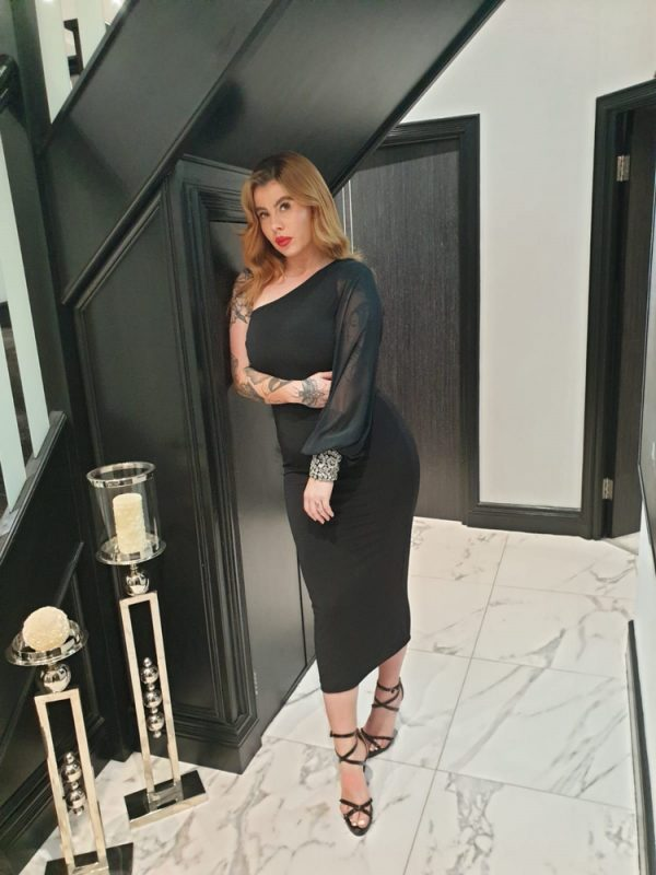 black midi dress - by we are curves clothing